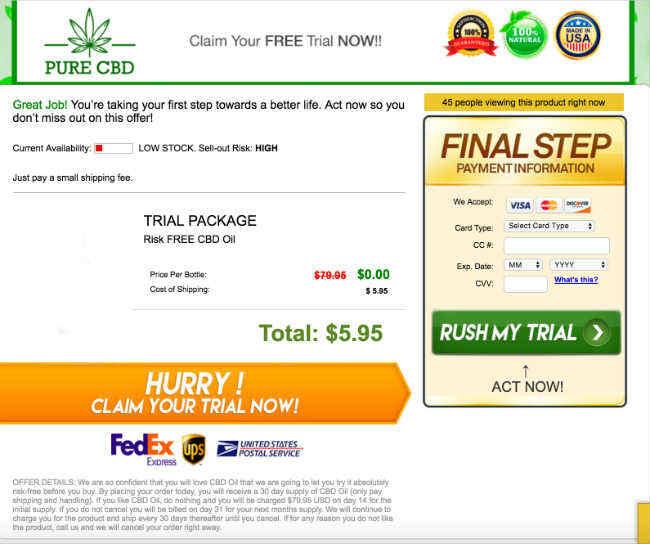 CBD Oil Free Trial | 30 Day CBD Oil Risk Free Trial, Cannabidiol Benefits