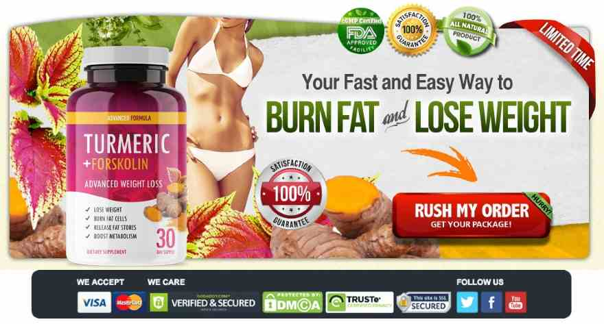 Turmeric Forskolin Advanced Weight Loss : Quick Belly Fat Burner, Uses, Side Effects