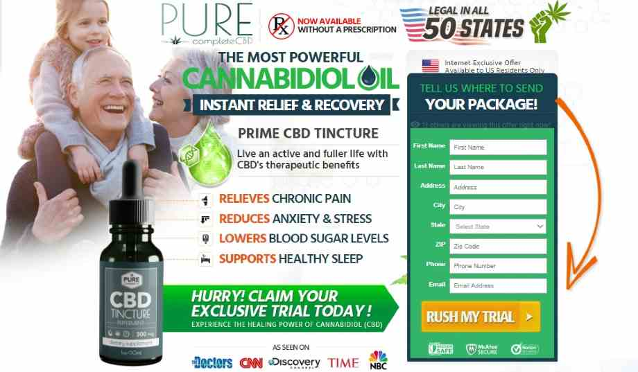 Pure Complete CBD Oil Reviews :  Is  Pure CBD Oil Tincture Safe Or Scam?