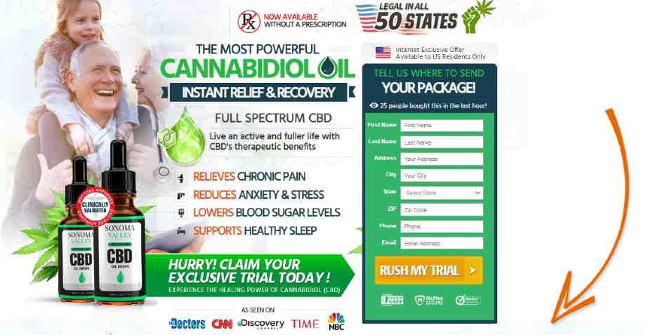 Sonoma Valley CBD Oil Reviews : Best CBD Oil For Pain, Anxiety & Depression