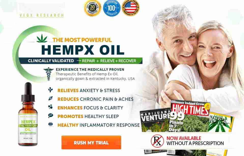 Hempex Activator Oil Reviews : CBD Activator Oil Benefits & Side Effects
