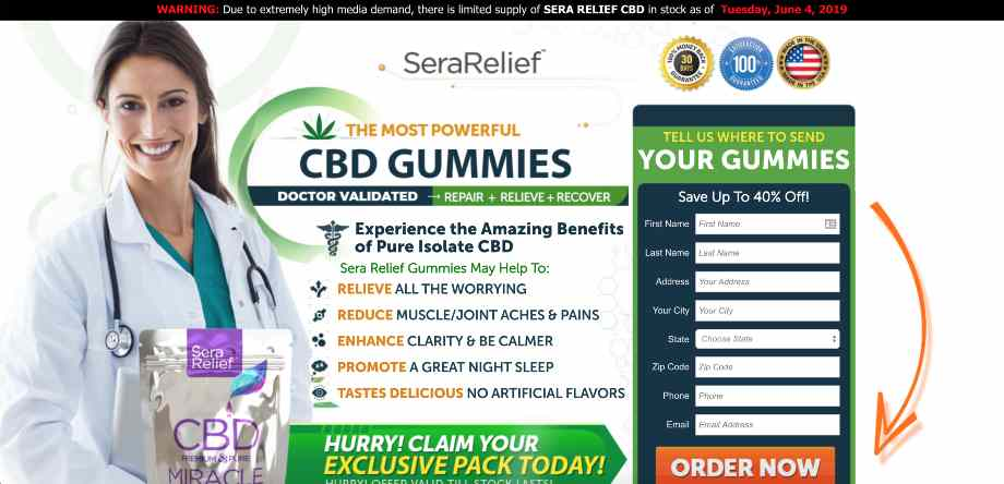 Sera Relief CBD Gummies Reviews : Miracle CBD Gummies Dr OZ
