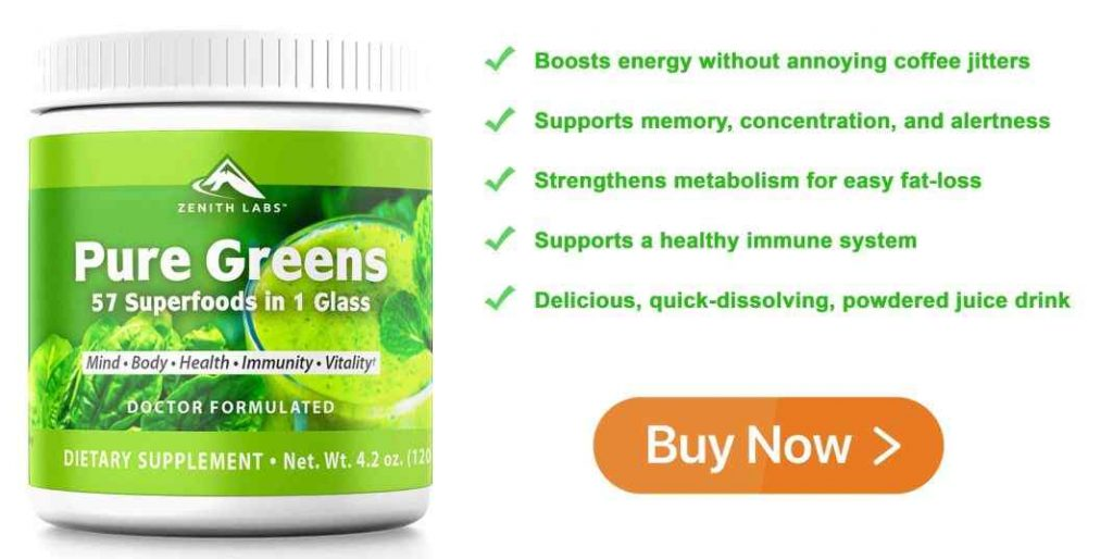 Pure Greens Reviews : buy Zenith Labs Pure Greens