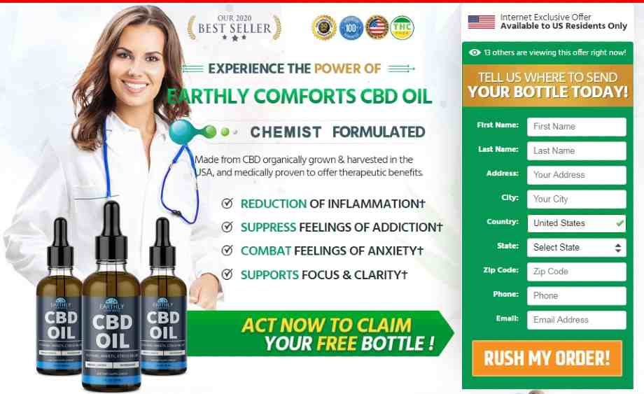 Earthly Comforts CBD Oil Review - cbd oil free trial