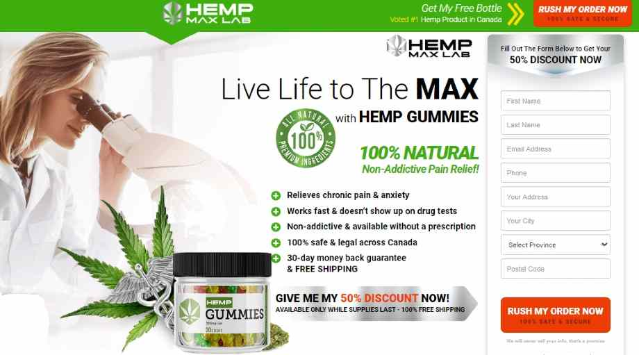 Hemp Max Lab Gummies Canada