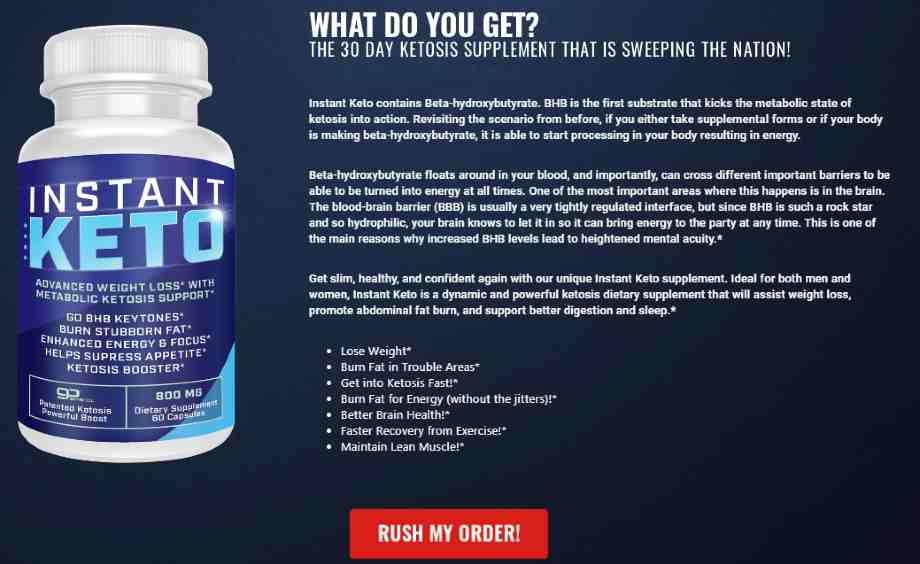 Instant Keto Pills Shark Tank order